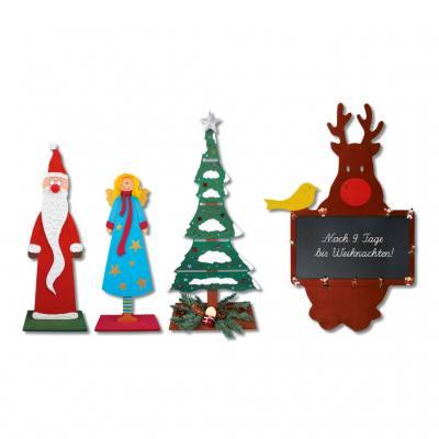 3D Holzmotive blanko - Weihnachten