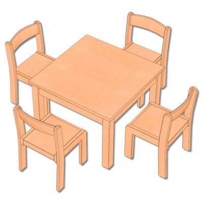 5-teiliges Möbel-Set - in 5 Höhen lieferbar