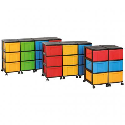 Modulus® Container-System mit je 3 großen Schüben übereinander