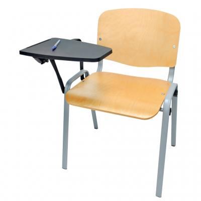 Robuster Stuhl mit Schreibfläche