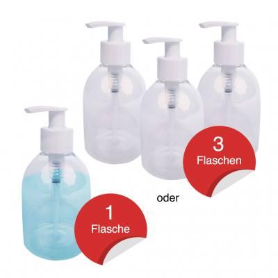 Praktische Pumpflaschen für flüssige Hygienemittel
