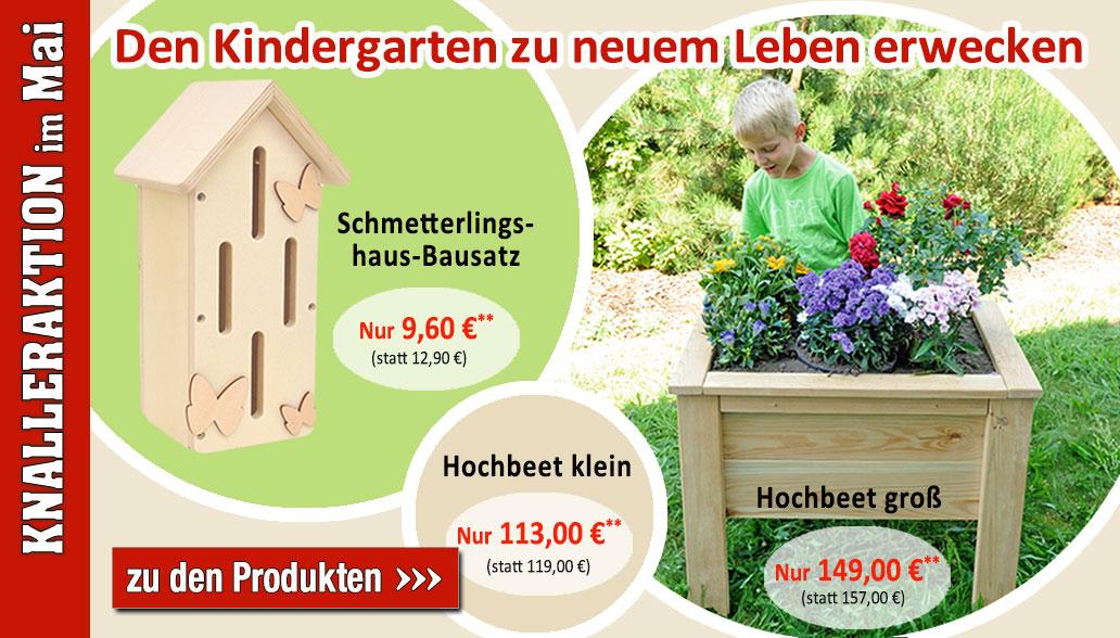 Mit Hochbeet und Schmetterlingshaus den Garten genießen