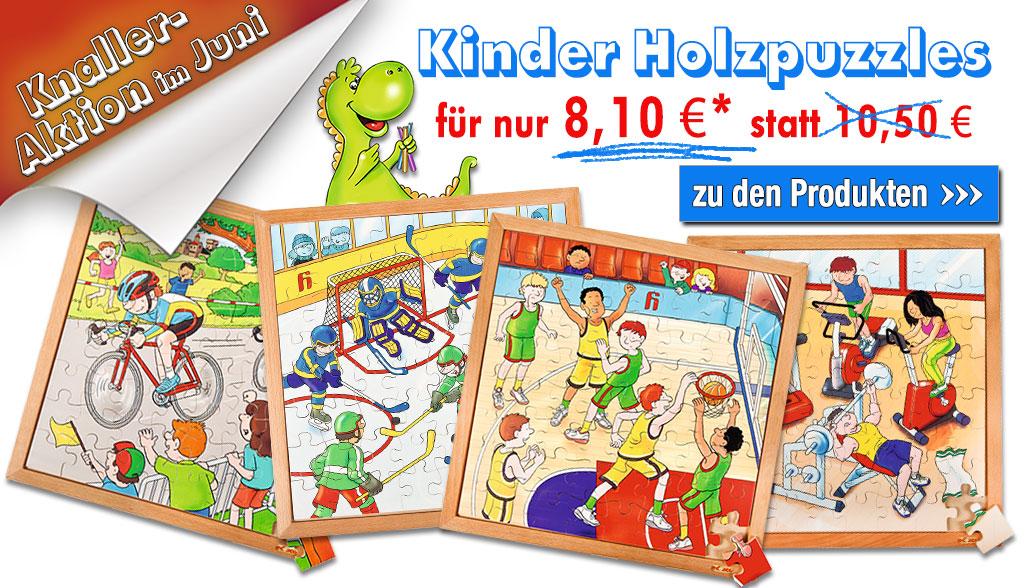 Knaller-Aktion im Juni: Kinder-Holzpuzzle im Rahmen