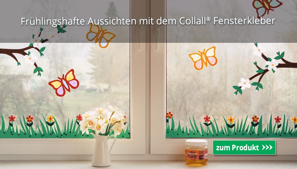 Frühlingshafte Aussichten mit dem Collall® Fensterkleber