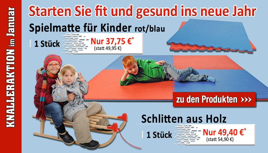 Knaller-Produkte im Januar: Drinnen und draußen aktiv mit Schlit